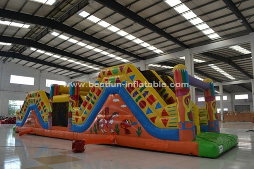 China Hot Sale Inflatable Indian Obstacle Course