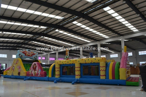 Commerical Inflatable Circus Obstacle Challenge