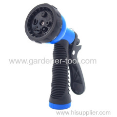 Plastic 8 function car wash water spray nozzle