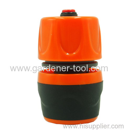 Plastic garden water hose soft coupling with waterstop