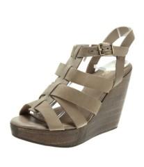 Ladies leather wedge heel dress sandals