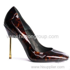 Hot Sale PU patent leather OEM design stiletto heel shoes