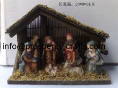 Poly resin Nativity set