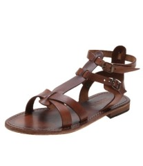 Ladies flat heel strappy sandals
