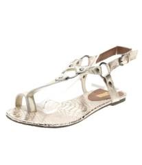 Fashion clip on T-strap flat heel women sandals