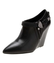 Fashion pointed toe wedge heel ankle women boots
