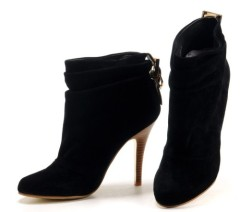 Ladies stiletto heel high heel dress boots black
