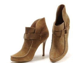 Fashion stitched high heel women boots