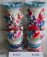 Ceramic Plated Vases .