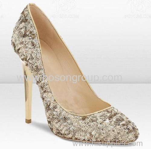 ladies glad polished classic high heel dress pumps with studded