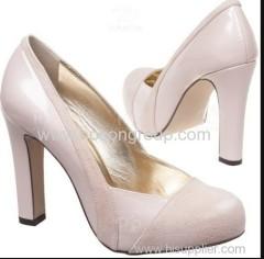 Customized desgin shining lining women high heel dress shoes