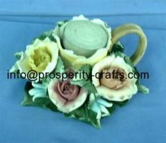 Porcelain Flower Candle holder