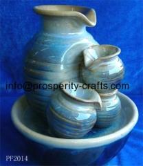 Ceramic Glazed tabletop Fountain