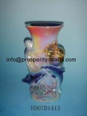 Ceramic glazed vase .