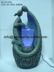 Polyresin Tabletop LED fountain