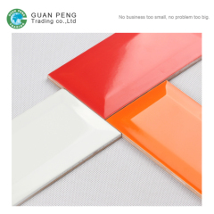 Wall Decorative Glazed Ceramic Prices Of Color Highlighter Bevel Edge Tiles For Kitchen Backsplash Tiles Wholesale