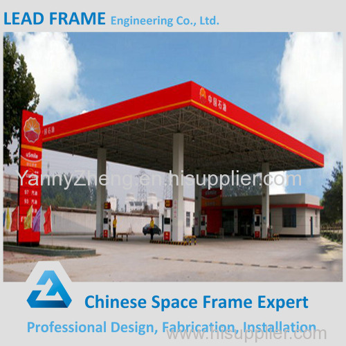 Light steel space frame low cost of gas station canopy & Light steel space frame low cost of gas station canopy LFxz03 ...