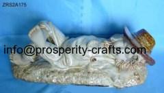 Porcelain Glazed statue .
