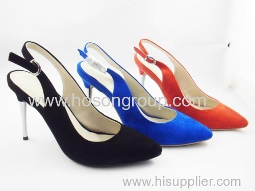 Customized design hgih heel ladies dress buckle sandals