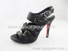 Black women customized design good quality high heel dress sandals
