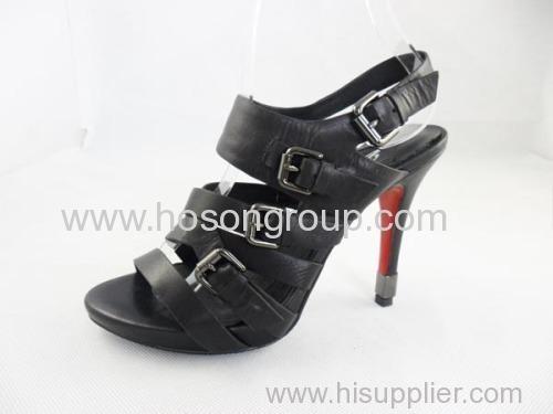 Black women customized design good quality high heel dress sandals