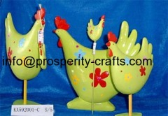 Ceramic Easter Hen and Flowerpot