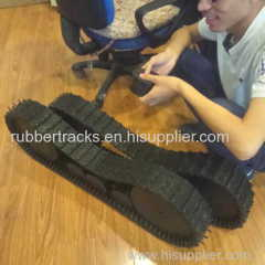 robot Rubber track with 250mm diameter sprockets