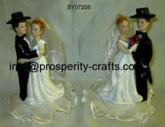 Poly resin Wedding figurine