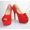 Customized design peep toe high heel shoes