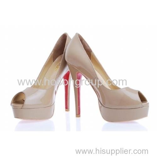Patent leather women fashion high heel dress sandals