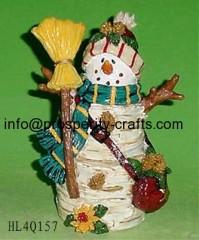 Poly resin Christmas Snowman