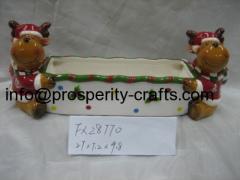 Ceramic Xmas Reindeer Jar and other Kitchenware