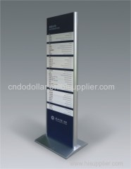 stainless steel standing guide sign