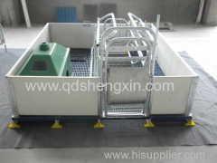 gaiola de parto único para suínos com cerca de PVC