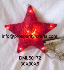 Grass Xmas Star with Light