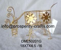 Metal Christmas candle holder