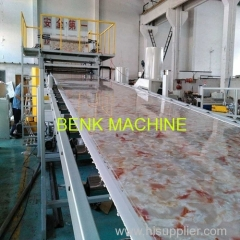 1220mm wide PVC Artificial Marble Sheet Extrusion Line