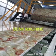 PVC Imitation Marble Decorative Sheet Extrusion Machine with PLC control