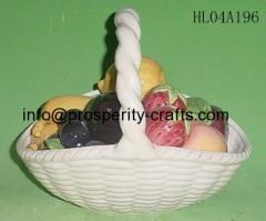 Porcelain Fruit & Basket