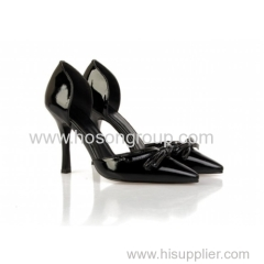 Lady pointy toe high heel dress shoes