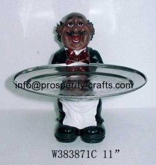 Cook / Waiter figurines with Tray