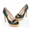 Women high heel fashion style good quality embroidery dress sandals