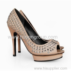 women customized design fashion high heel dress sandals