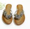 Rhinestone flat heel shoes