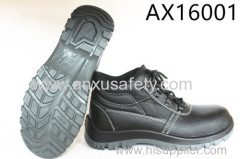 AX16001 CE EN 20345 split emboss leather safety shoes