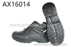 AX16014 split leather upper and PU Injection outsole safaty footwear