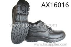 AX16016 split emboss leather safety boots