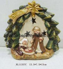 Ceramic Nativity set .