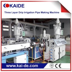 Pipe production line for drip irrigation pipe making three layer