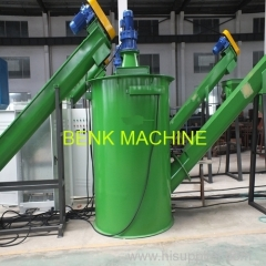waste pet bottle crushing washing drying recycling line